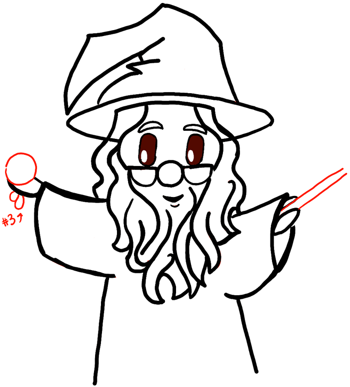 700x772 How To Draw Cute Chibi Dumbledore And Fawkes From Harry Potter