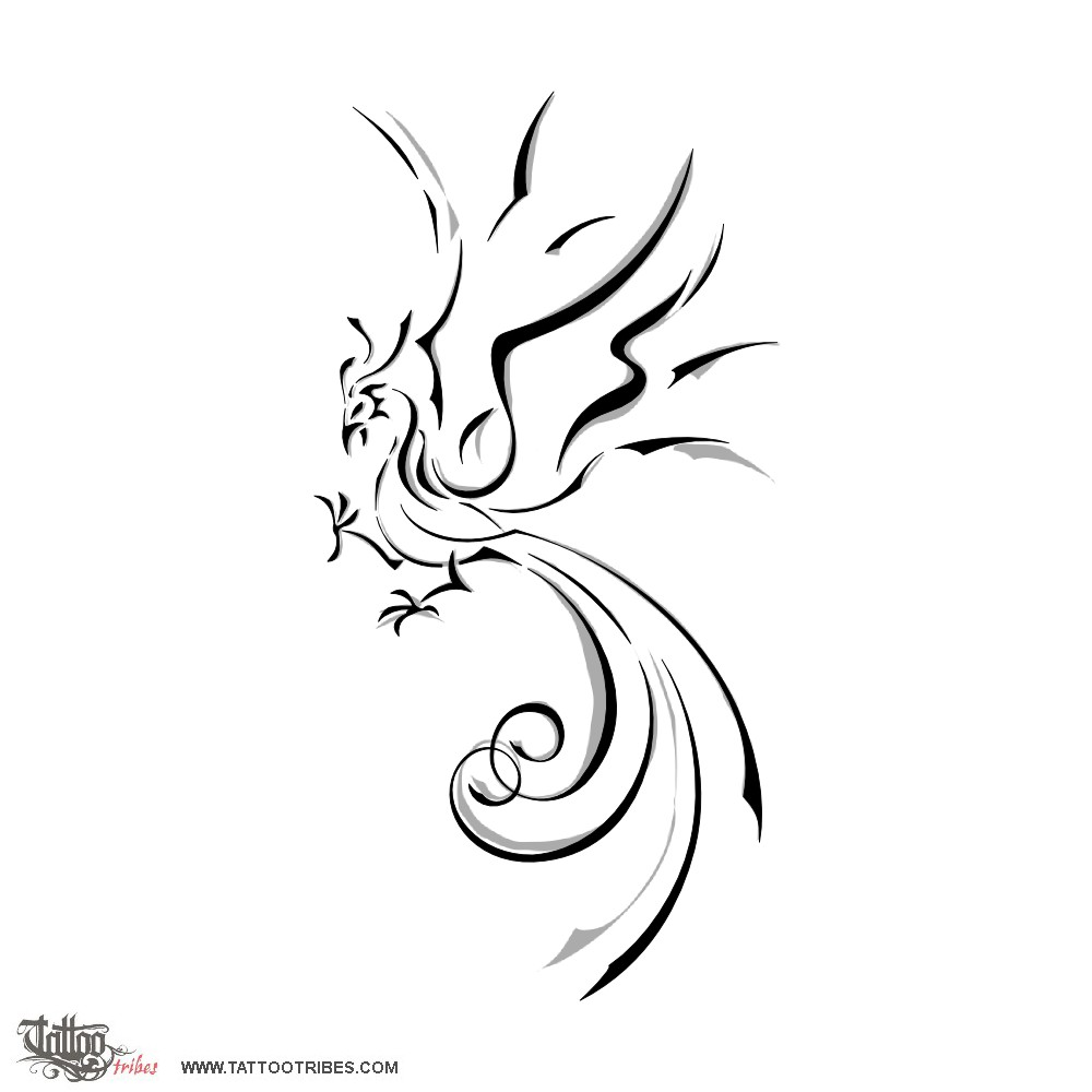 Phoenix Tattoo Drawing Free Download Best Phoenix Tattoo
