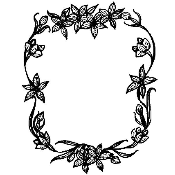 600x600 Flower Photo Frame Design Drawing