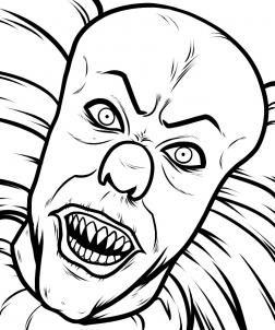 252x302 How To Draw Pennywise, Step When Everything Is All Cleaned Up