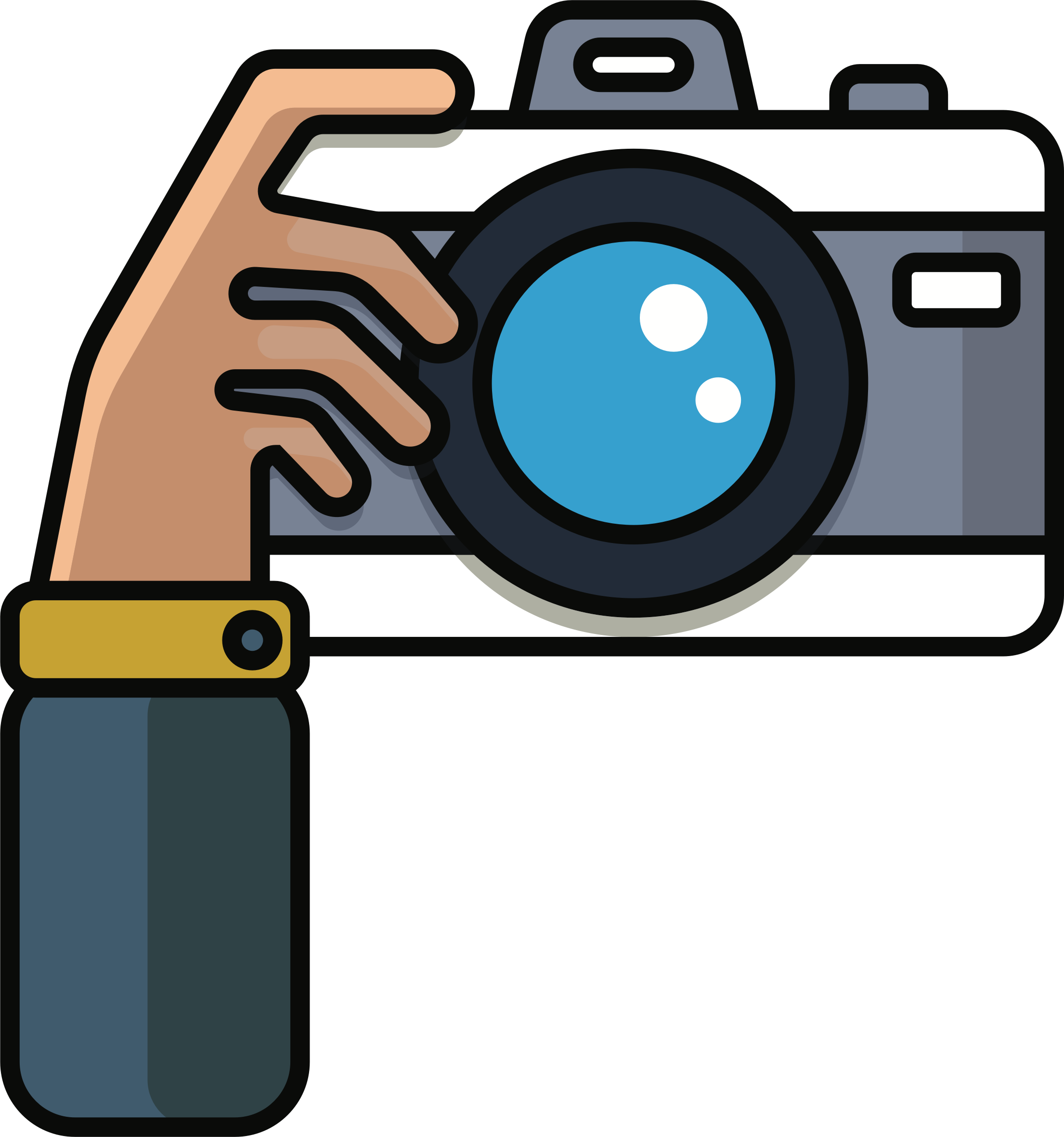 Photographer With Camera Drawing Png Free Download Best