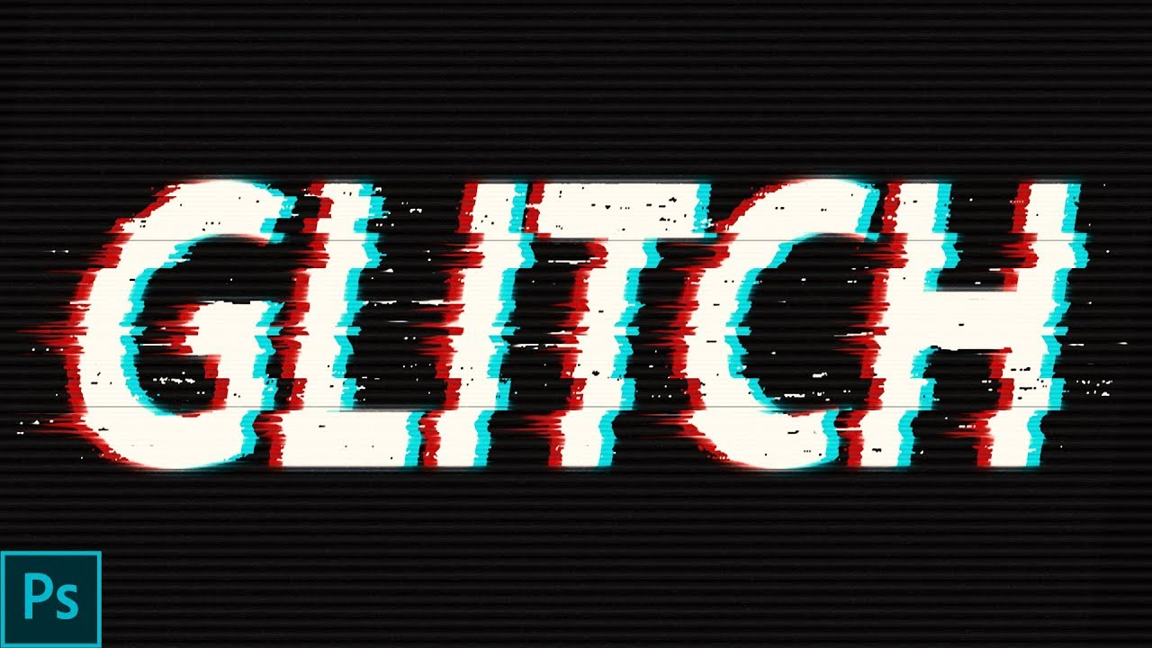 1280x720 how to make glitch text in photoshop how to create awesome text