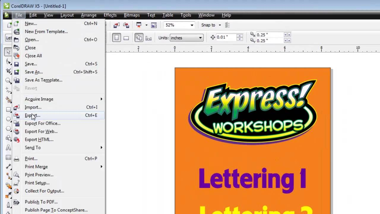 1280x720 How To Create A Coreldraw And Export It To Photoshop As