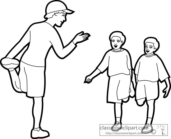 550x448 physical education teacher clipart inside physical education