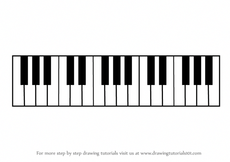 Piano Keyboard Drawing | Free download best Piano Keyboard