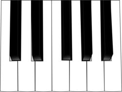 251x190 Black And White Drawing Of Sheet Music And Piano Keys Free Image