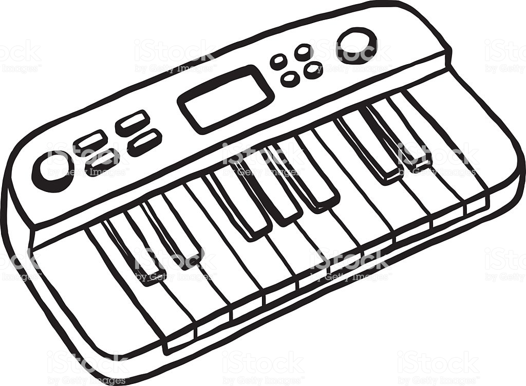 1024x752 Huge Collection Of 'musical Keyboard Drawing' Download More Than