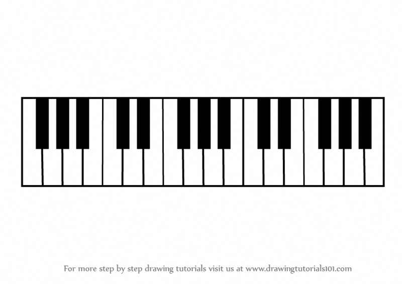800x566 Learn How To Draw Piano Keys