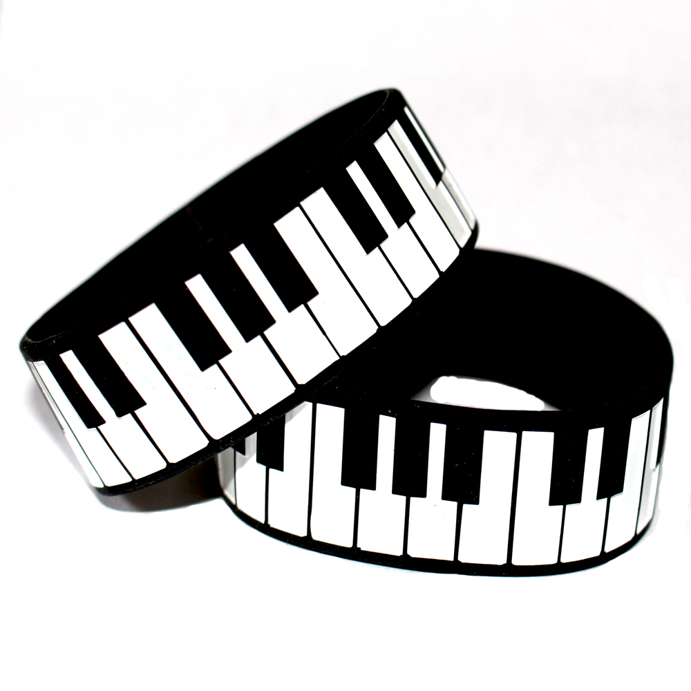 1000x1000 Piano Keys Silicone Wristband Bracelet, Perfect To Use In Any