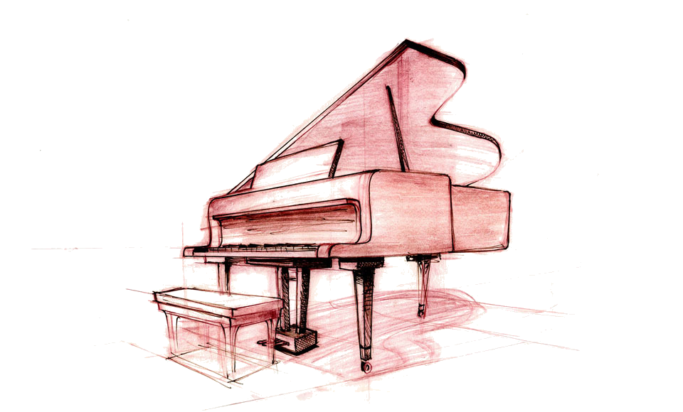 960x580 Collection Of Free Piano Drawing Sketch Download On Ui Ex