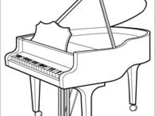 640x480 Free Drawn Piano, Download Free Clip Art