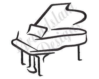 340x270 Grand Piano Design Etsy