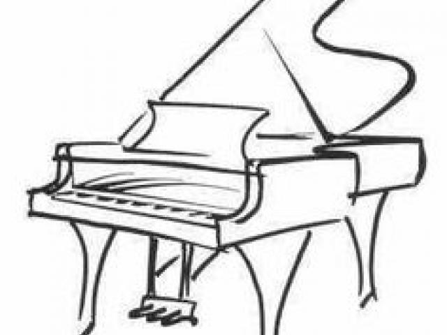 640x480 Drawn Piano Drawing Free Clip Art Stock Illustrations