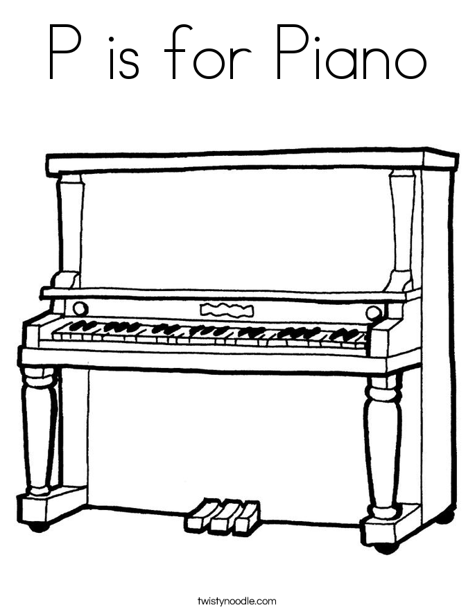685x886 Piano Drawing Outline For Free Download