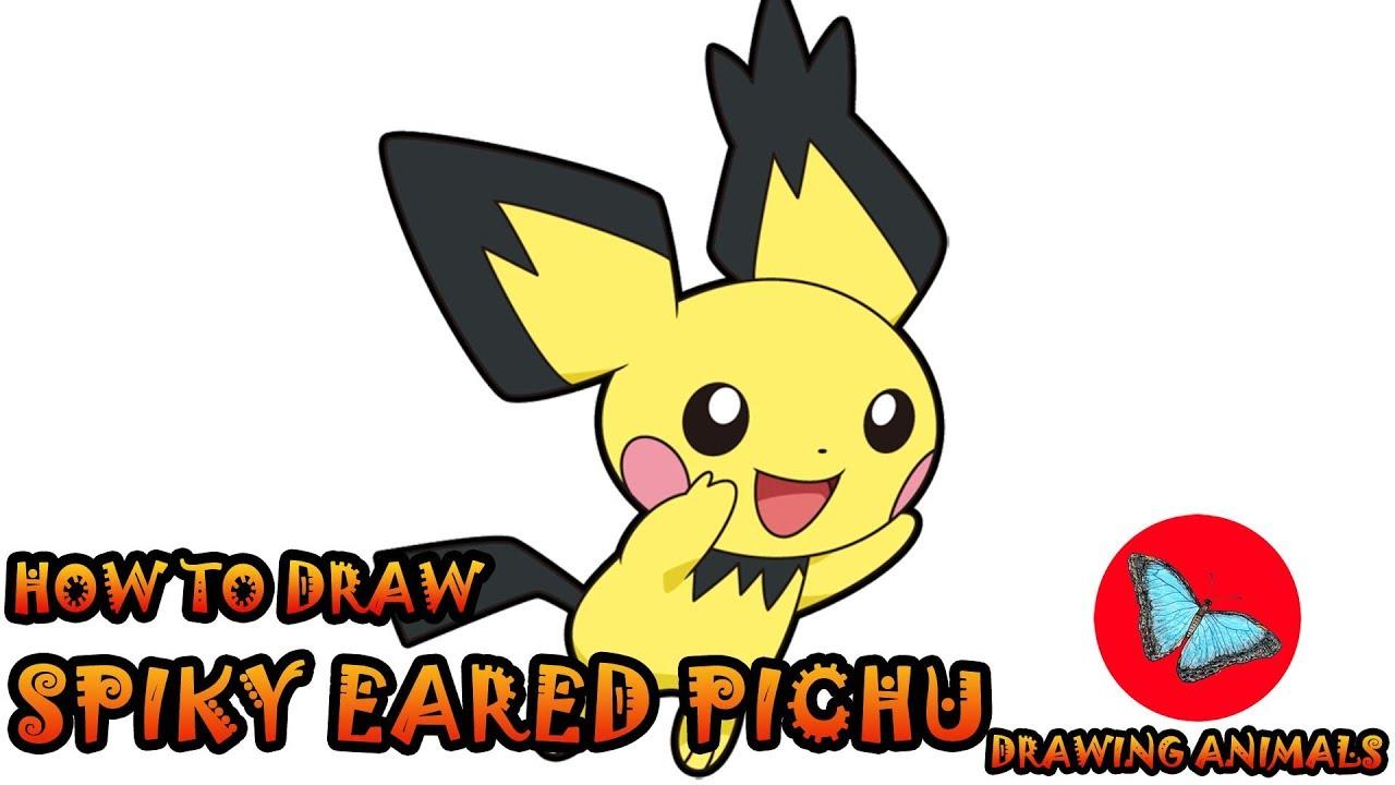 1280x720 how to draw spiky eared pichu pokemon