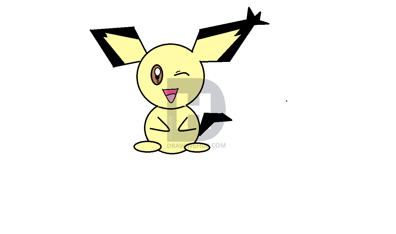 1386x820 how to draw notched eared pichu, step