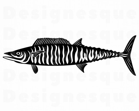 570x456 wahoo fishing fish fishing clipart fishing etsy