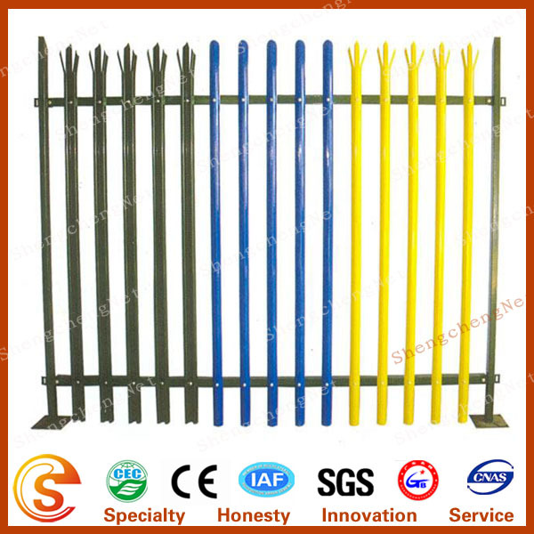 600x600 professional factory steel picket fence angle bar fence palisade