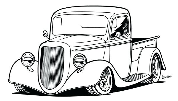 600x342 car and truck drawings car truck pickup off road car truck