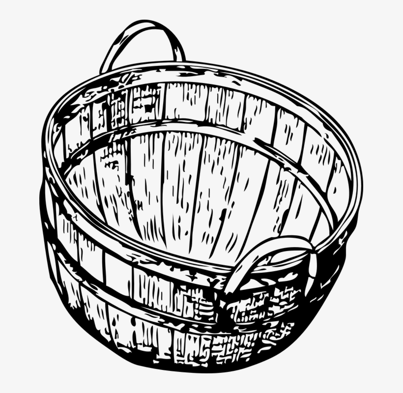 820x800 Picnic Basket Clipart Empty Laundry Basket