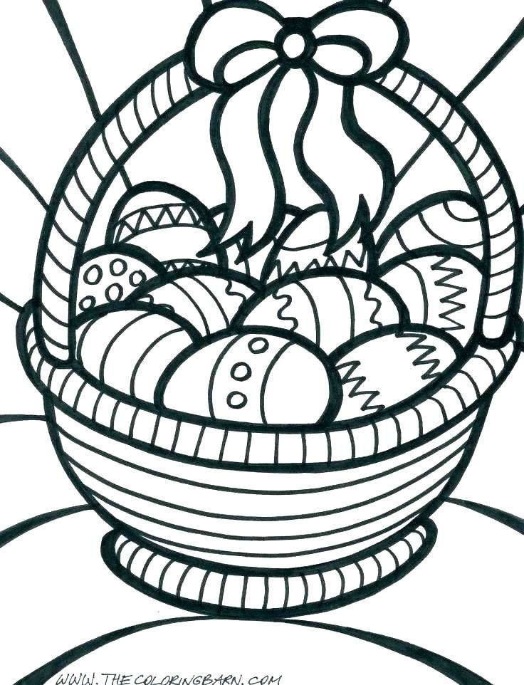 736x962 Picnic Basket Coloring