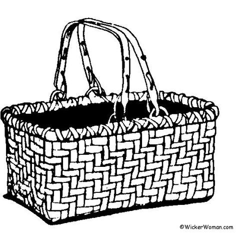 474x465 picnic basket to color picnic basket coloring