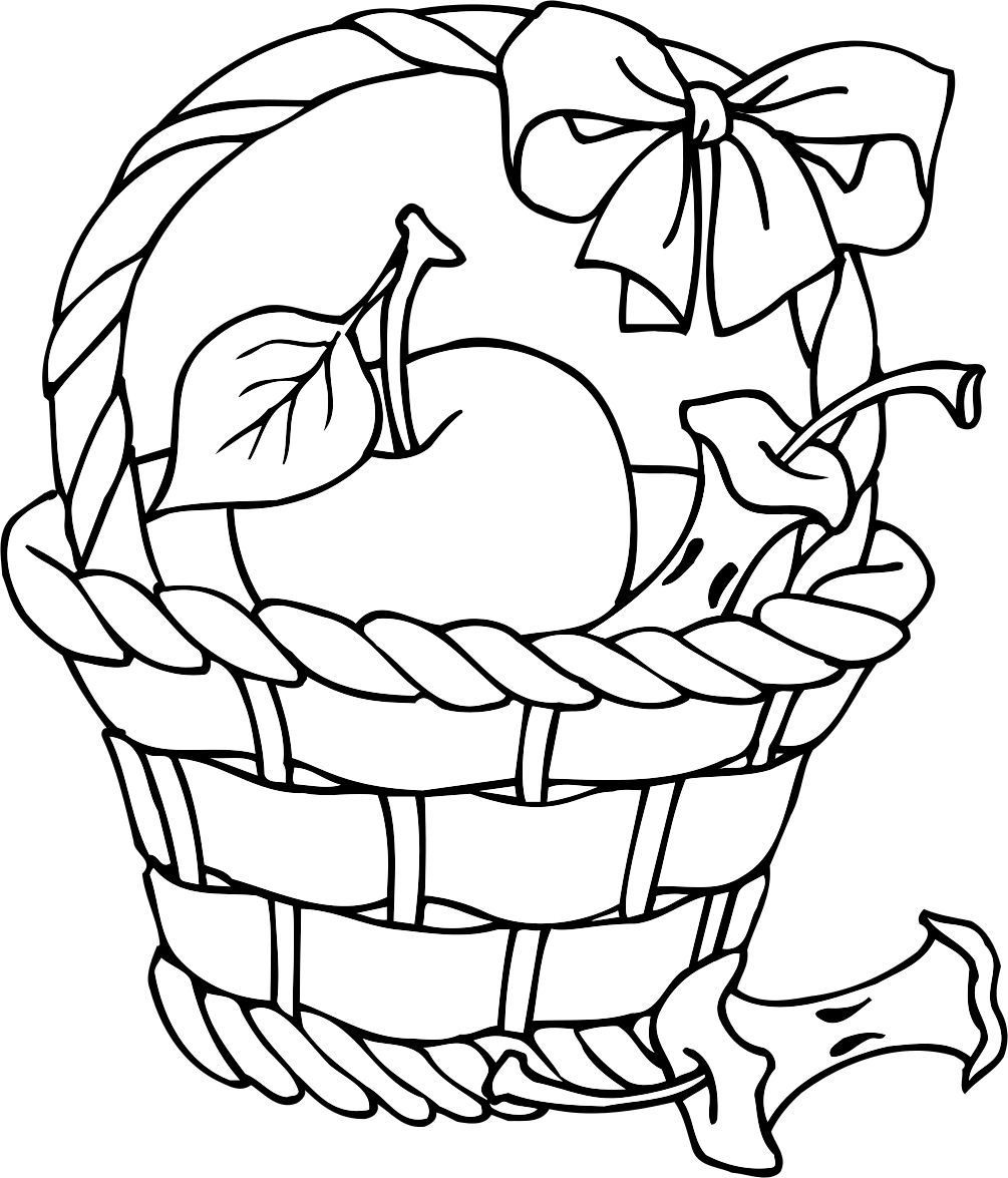 1005x1175 Collection Of Free Basket Clipart Colouring