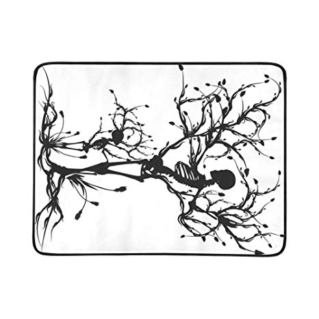 466x466 Interestprint Creative Skull Tree Foldable Beach Blanket Mat