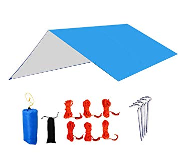 355x323 Leesentec Rain Fly Tent Tarp Shelter Waterproof Camping Tarps