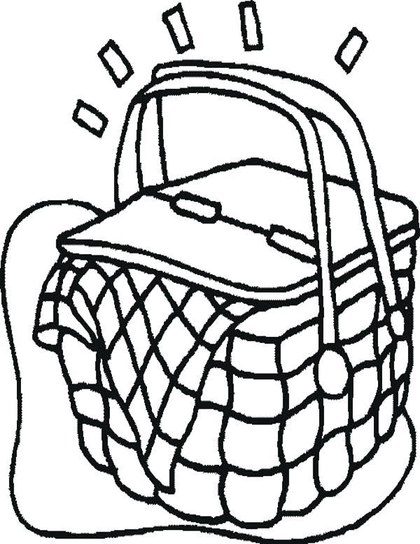 600x777 Unique Picnic Basket Coloring