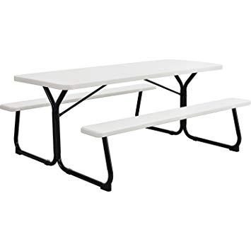 355x355 plastic picnic table, blow molded plastic, x