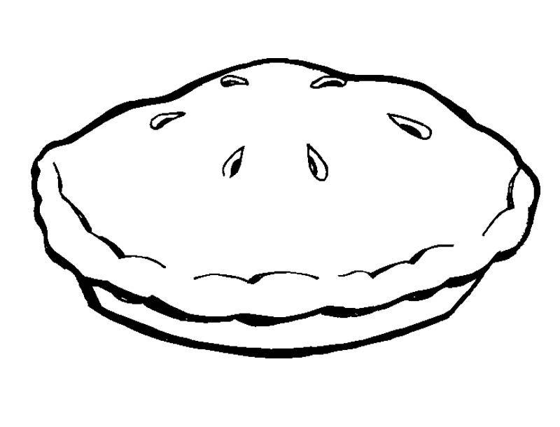 Pie Line Drawing