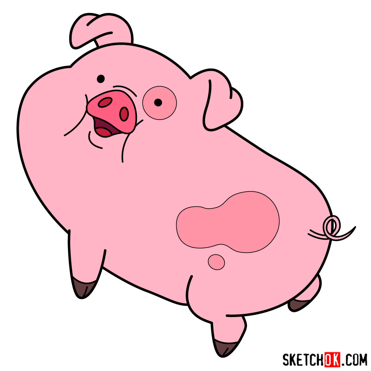 1200x1200 How To Draw Waddles The Pig
