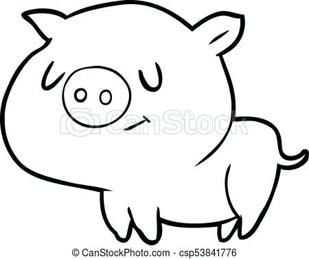 450x378 Cartoon Pig Drawing Pig Cartoon How To Draw A Cartoon Pig