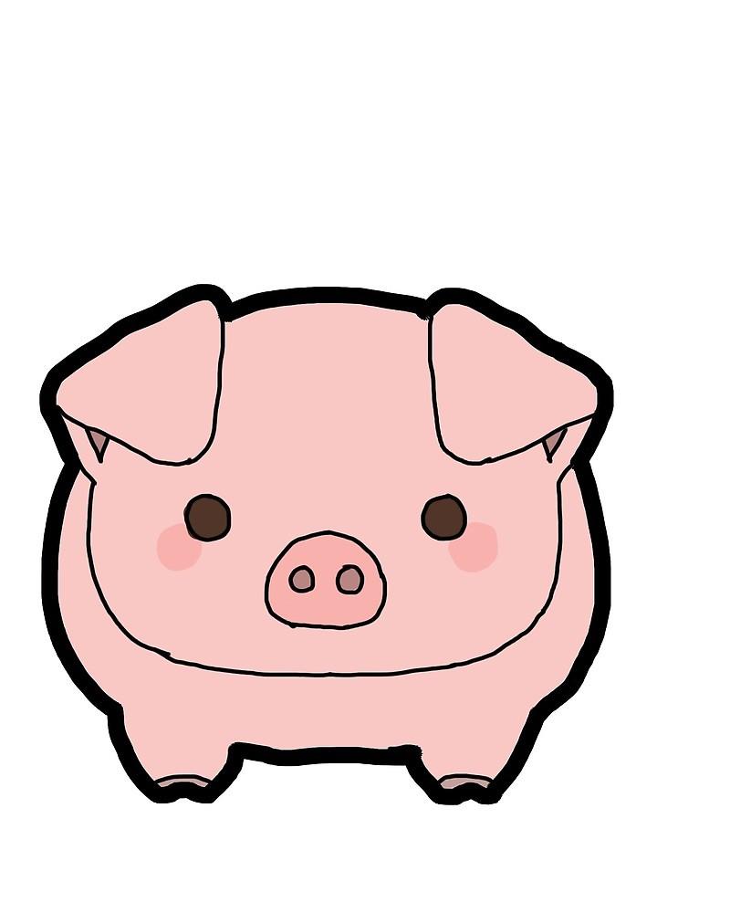800x1000 Pig Drawing