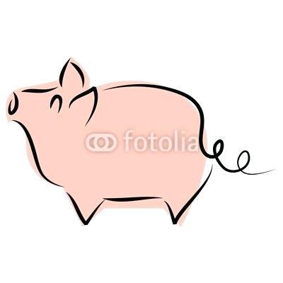 400x400 Simple Pig Drawing How To Draw A Simple Pig Pig Drawings Easy