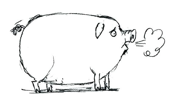 576x343 Draw A Pig Face How Pig Face Drawing Easy