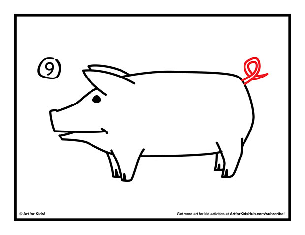 620x479 How To Draw A Pig