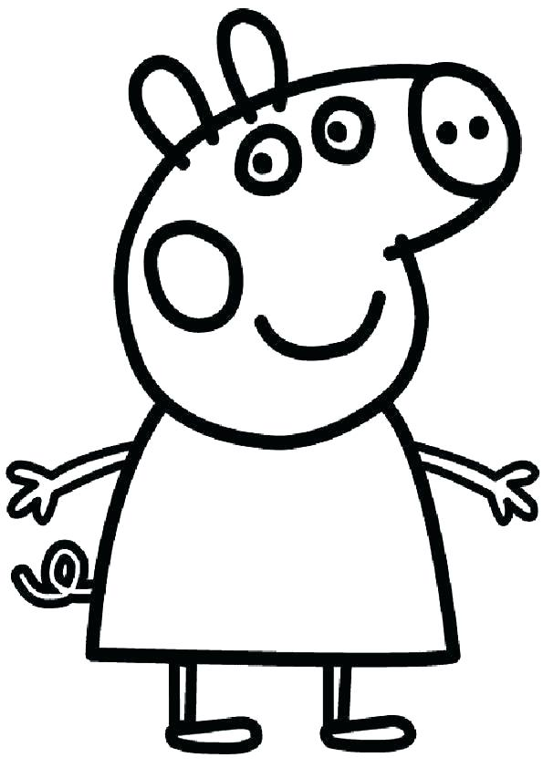 595x842 coloring peppa pig pig color pig coloring pages logo to color pig