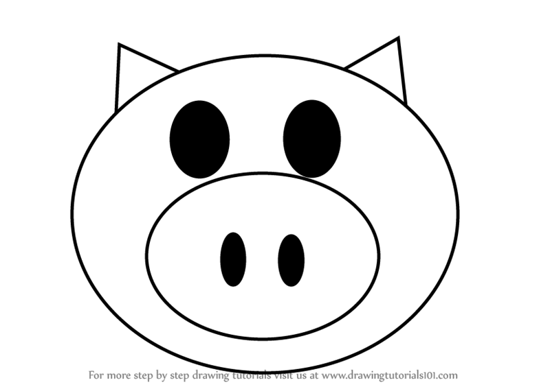 800x567 Learn How To Draw A Happy Pig
