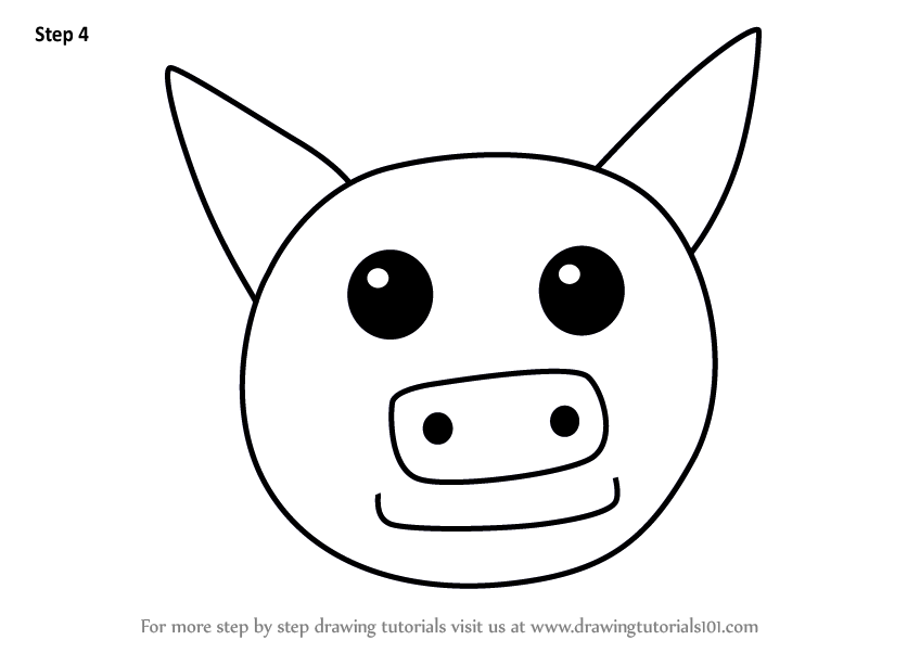 848x602 Learn How To Draw A Pig Face For Kids