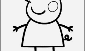 290x175 Peppa Pig Drawing Templates Elegant Cute Pig Coloring Pages