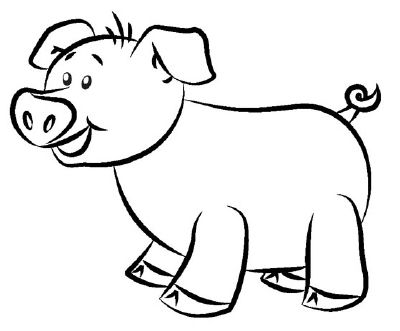 400x331 Draw A Pig How To Draw A Cartoon Pig Drawings Drawing