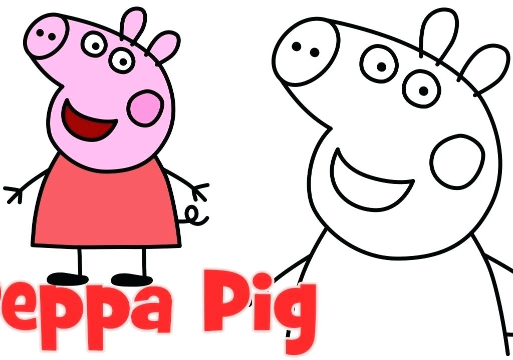 1024x720 Easy To Draw Pig Easy Way To Draw Peppa Pig