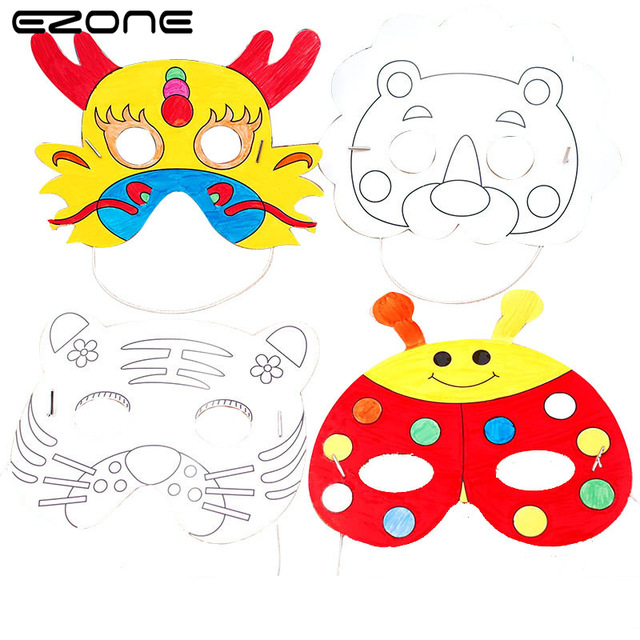 640x640 Ezone Blank Mask Drawing Papers For Children Painting Graffiti Diy