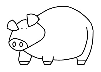 350x250 How To Draw A Pig