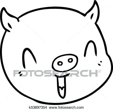 450x435 Pig Face Drawing Pig Face Sketch New How To Draw A Cartoon Pig