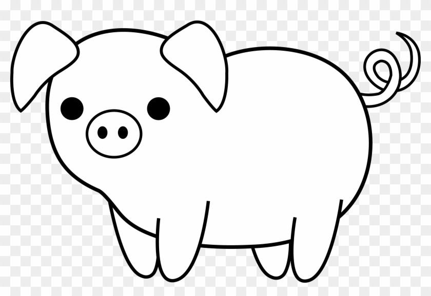 840x578 Pig Drawing Clipart Clipart Portal