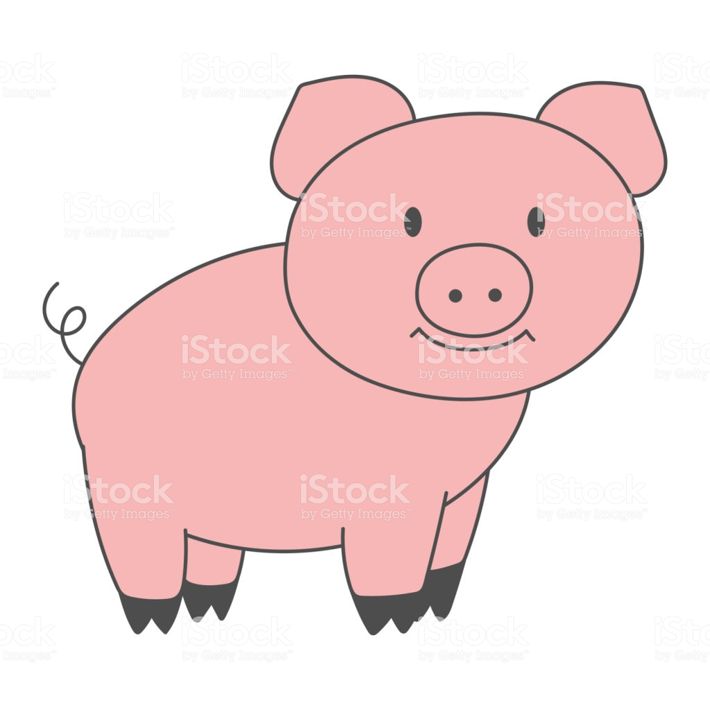 1024x1024 Collection Of 'pink Pig Drawing' Download More Than Images