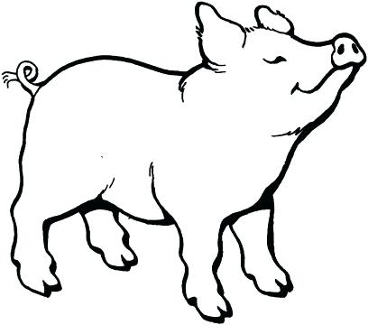 408x360 Drawn Pigs Pig Fortune God Blessings Pigs And Easy Draw Pig Step